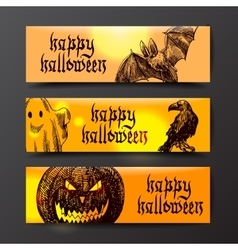 Happy halloween sketch vector image