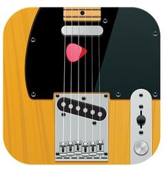 square guitar icon vector image vector image