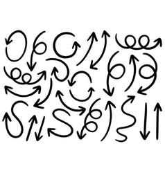 0078 hand drawn arrows vector