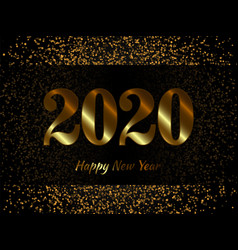2020 new year background with gold glitter vector