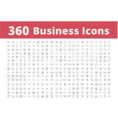 360 business icons vector