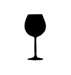 a glass for red wine vector image