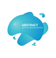 Abstract blur free form shapes color gradient vector