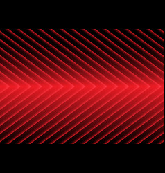Abstract red arrow light pattern on black design vector