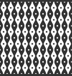 abstract seamless pattern of smooth lines and dots vector image