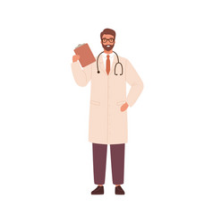 adult man doctor physician practitioner vector image