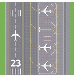Airport landing airstrips vector