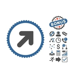 Arrow Up Right Flat Icon With Bonus vector image