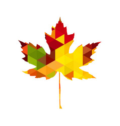 autumnal maple leaf triangle vector image