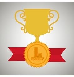 Award winner design vector image