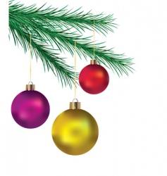 balls on Christmas tree vector image