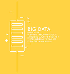 big data in a linear style on a vector image