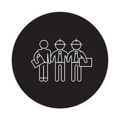 building engineers black concept icon vector image