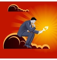 Burden of leadership business concept vector image