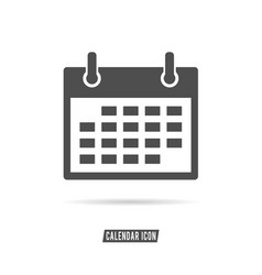 calendar icon black and white color vector image