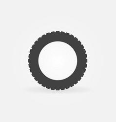 car road tire icon or symbol vector image