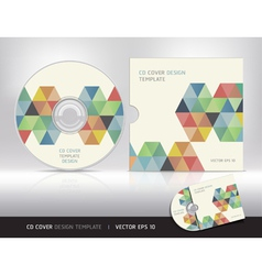 Cd cover design template vector image