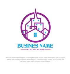 city logo designs vector image