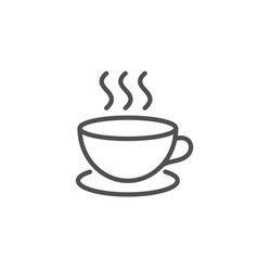 coffee drink line icon hot cup sign vector image