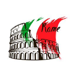 Coliseum in rome italy vector