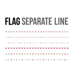 colorful flag separate line design layout vector image