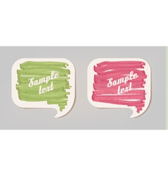 Colorful sticker speech bubbles vector