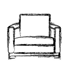 comfortable couch isolated vector image