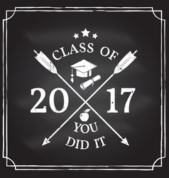 Congratulations graduates class of 2017 vector