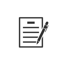 contract agreement icon in flat style document vector image