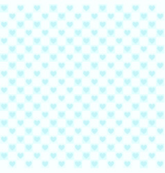 Cyan checkered heart pattern seamless background vector