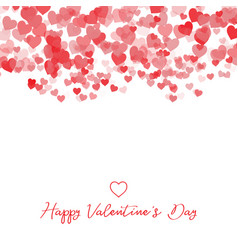 decorative valentines day heart background vector image