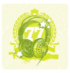 Dj studio headphones vector