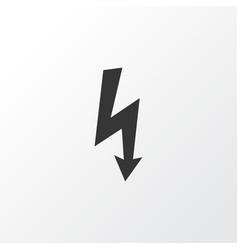 electrical hazard icon symbol premium quality vector image