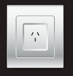 european type electricity socket isolated electric vector image