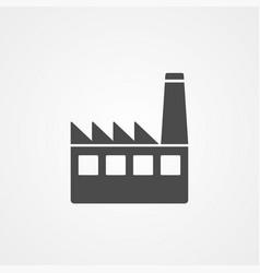 factory icon sign symbol vector image