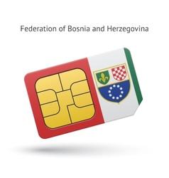 Federation bosnia and herzegovina phone sim vector