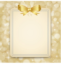 festive golden background abstract banner vector image
