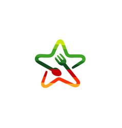 Food star logo vector
