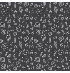 hand drawn study accessories seamless vector image