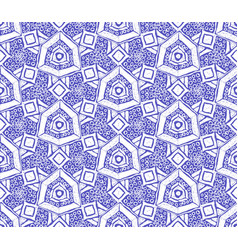 Ikat tribal art print seamless african pattern vector