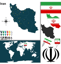 Iran map world vector