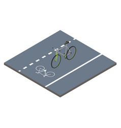 Isometric icon bicycle vector