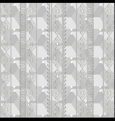 light gray geometric greek seamless pattern vector image