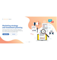marketing strategy and investment planning vector image