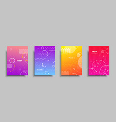 Modern colorful covers with multi-colored vector