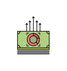 Money bundle bucks transfer flat color icon icon vector