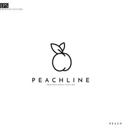 Peach line art logo vector