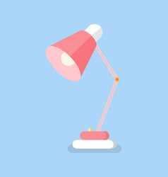 pink table lamp icon lighting equipment vector image