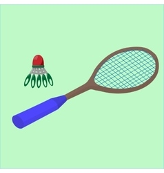Play badminton on the beach sports vector