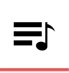 playlist icon for web or mobile app vector image